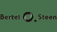 bertel o steen logo svart hvit