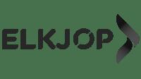 elkjøp  logo svart hvit