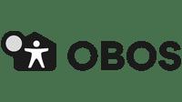 obos logo svart hvit