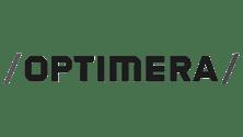 Optimera logo svart hvit
