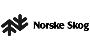 norske skog logo svart hvit